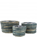 wholesale Plants & Pots: Planting bowl Arjan set of 3, D25 / 20 / 15cm, H